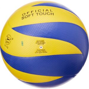 كرة طائرة من ديير، مقاس 5 - ازرق واصفر